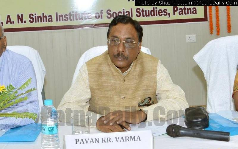 Expelled JD-U leader Pavan Varma (file photo).