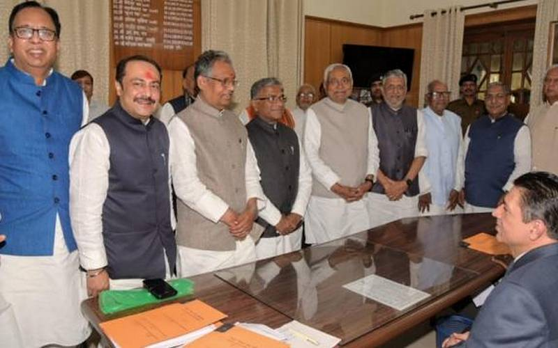 BJP candidates for Rajya Sabha file their nomination papers on Friday.