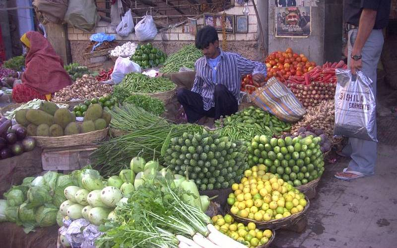 A vegetable shop in Patna.