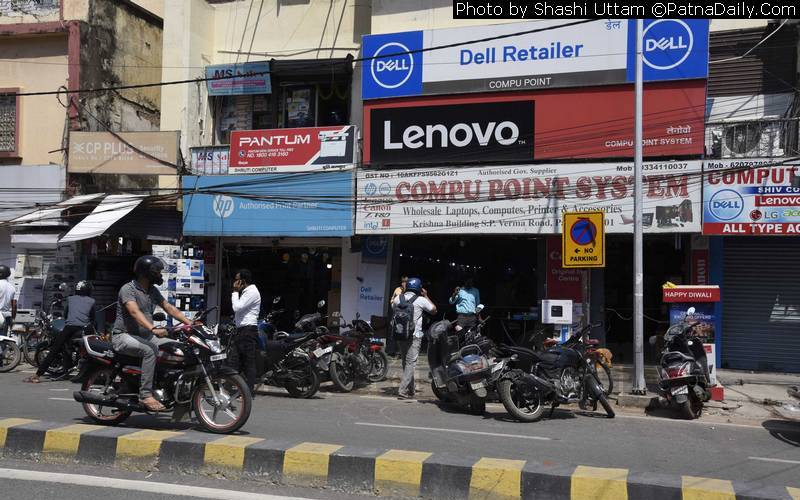 Computer shops among many others allowed to open in Patna on Friday.