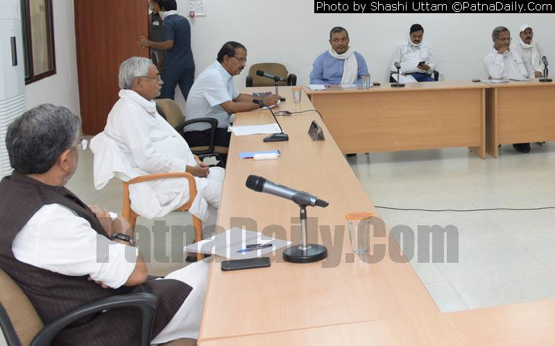 Chief Minister Nitish Kumar holding a high-level meeting to review Coronavirus preparedness in Bihar.