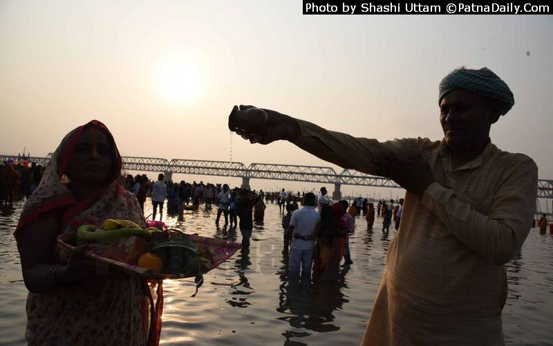 The festival of Chhath in Bihar.