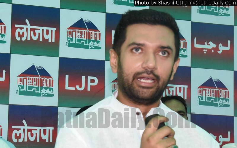 LJP president Chirag Paswan (file photo).