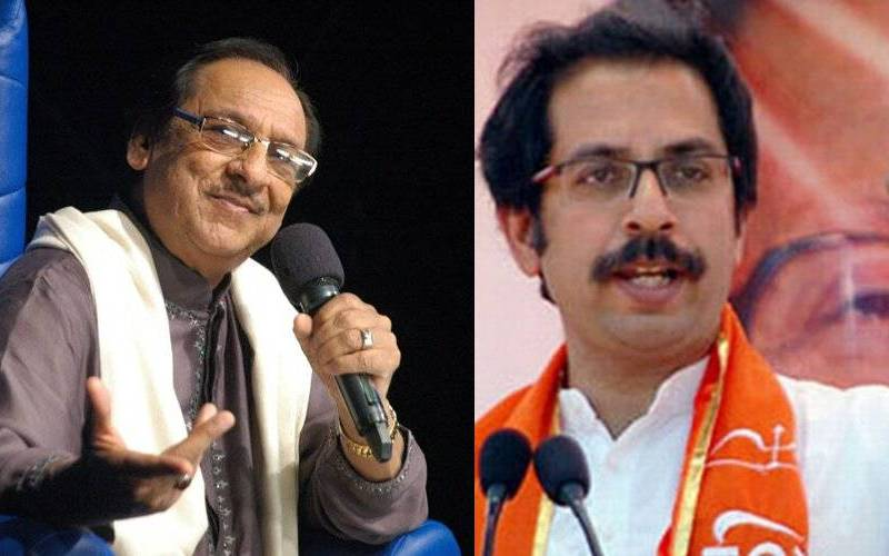 Pakistani ghazal singer Ghulam Ali (left) and Shiv Sena leader Uddhav Thackeray.