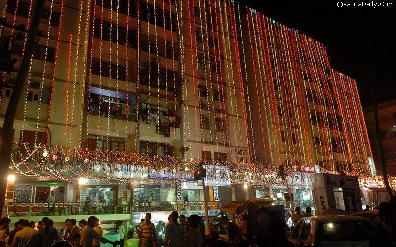 Diwali decoration in Patna.