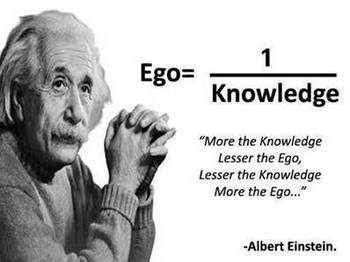 Einstein on ego.