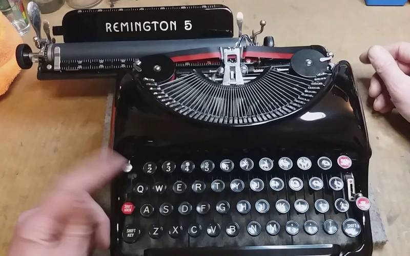 Old typewriter.