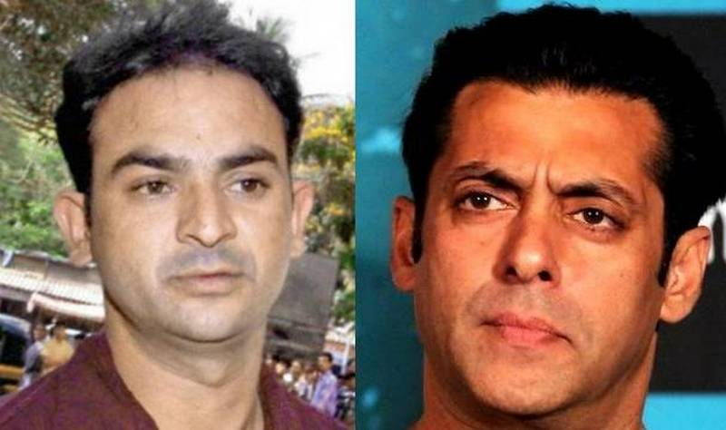Mumbai police constable Ravindra Patil and Bollywood actor Salman Khan.