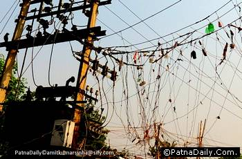 Power cables in Patna.