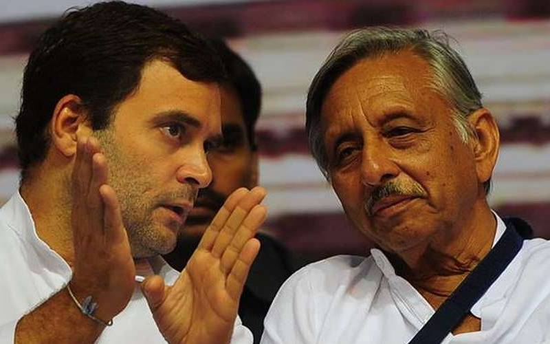 Congress leaders Rahul Gandhi and Mani Shankar Aiyar