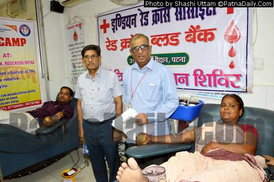 Blood donation drive in Patna (file photo).