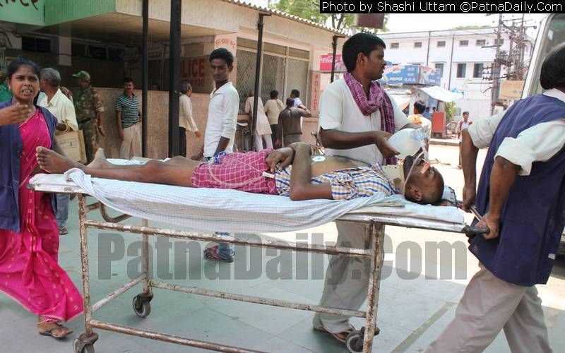 Patients leaving hospital in Patna (file photo).