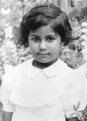 Papiya at the age of 3.