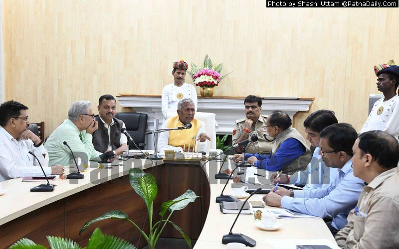 Governor Fagu Chauhan holding meeting of VC's at Raj Bhawan in Patna on Wednesday.