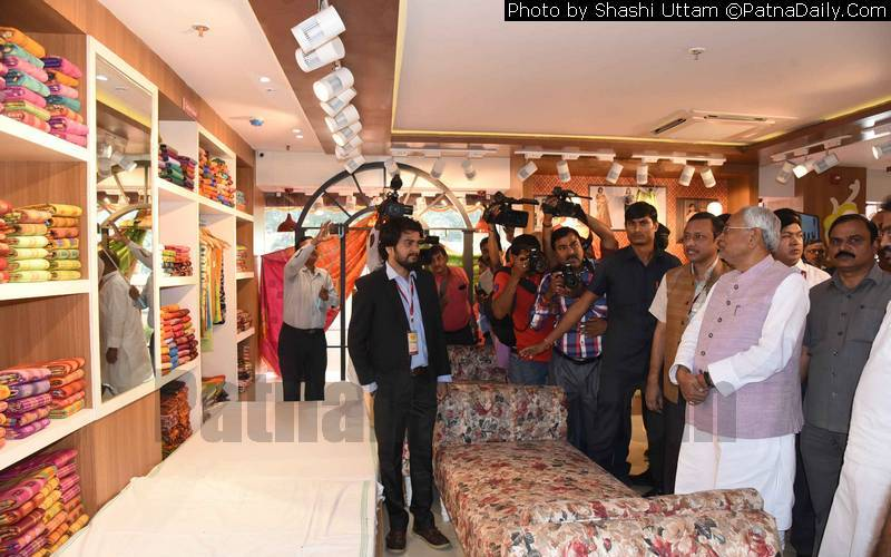 Patna's Khadi Mall attracts large number of visitors on Wednesday.