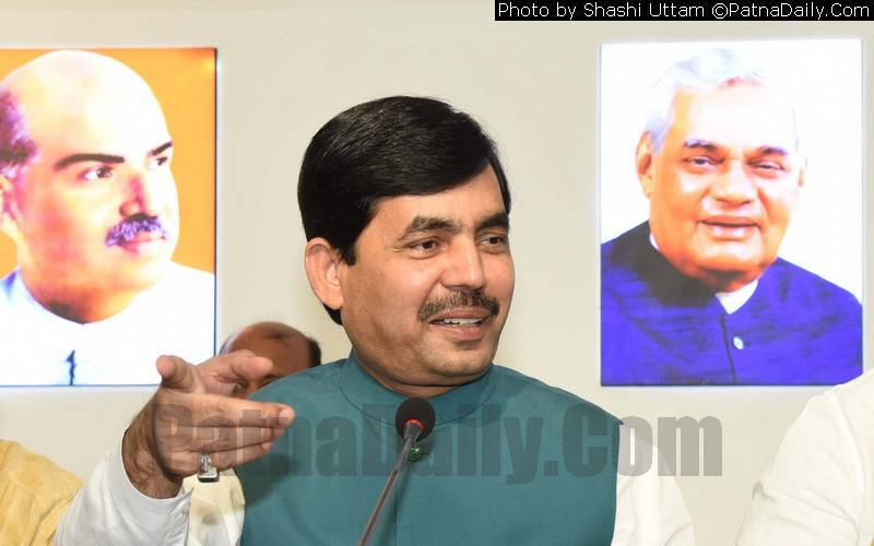 BJP spokesperson Shahnawaz Hussain (file photo).