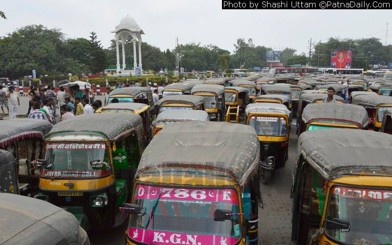 Auto rickshaws in Patna.