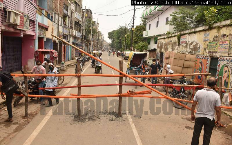 Authorities seal Patna City areas following many new Coronavirus cases on Friday.