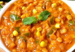 Paneer and Corn Curry
